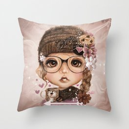 JAVA JOANNA  Throw Pillow