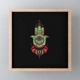 Hamsa Hand Protection Framed Mini Art Print