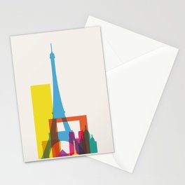 Shapes of Paris. Accurate to scale. Stationery Cards