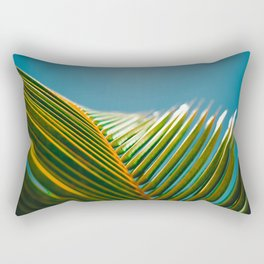 green and turquoise Rectangular Pillow
