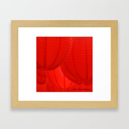 Red lanterns Framed Art Print