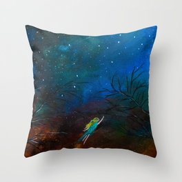 Journey to the stars Throw Pillow