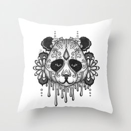 Blacksilver Panda Spirit Throw Pillow