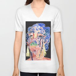 The Blue Queen Unisex V-Neck