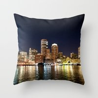 boston Throw Pillows featuring Boston by Bust it Away Photography