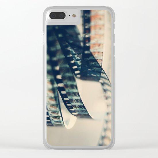 super 8 film Clear iPhone Case