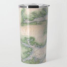 Vintage Map of The North Carolina Coast (1875) Travel Mug