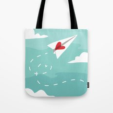 Love Letter Airplane Tote Bag