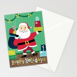 Happy Holidays - Santa Card Stationery Cards