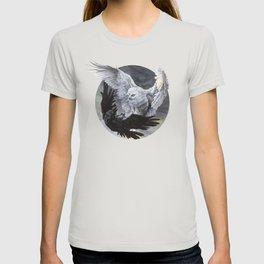 Yin Yang Owl and Raven T-shirt