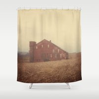 farm Shower Curtains featuring Autumn Farm by Olivia Joy StClaire