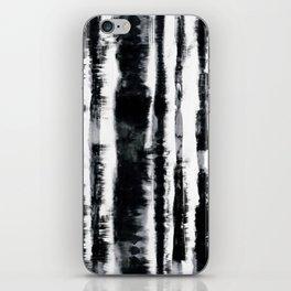 Tie-Dye Shibori Stripe BW iPhone Skin