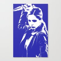 buffy the vampire slayer Canvas Prints featuring Buffy the Vampire Slayer - Blue by Laura