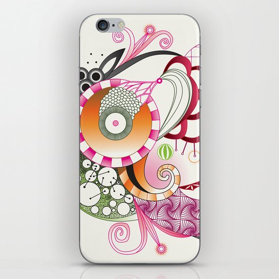 Autumn tangle iPhone & iPod Skin