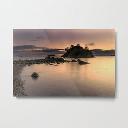 Sunset at Whytecliff Park Metal Print