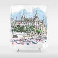spain Shower Curtains featuring Spain  by Pablo Garcia