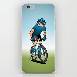 MTB - Mountain biker in the mountains iPhone Skin