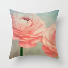 Vintage Ranunculus (5) Throw Pillow