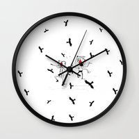 angels Wall Clocks featuring angels by julianesc