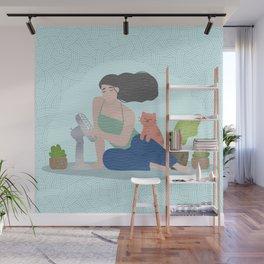 Yoga Boho Girl Wall Mural
