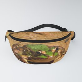 Green frog Fanny Pack