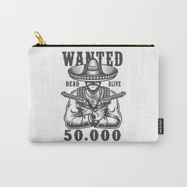 Wanted Dead or Alive Carry-All Pouch
