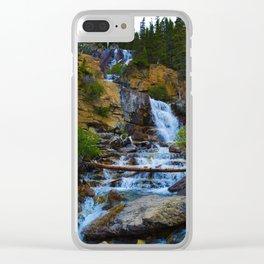 Tangle Falls in Jasper National Park, Canada Clear iPhone Case