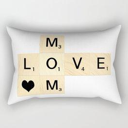 MOM - Mother's Day Scrabble Art Rectangular Pillow