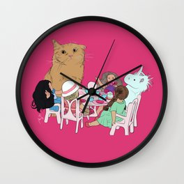 Teatime//because every cat deserves to be spoiled Wall Clock