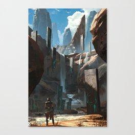 Tablet Falls Canvas Print