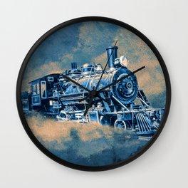 Night Line Blues Wall Clock
