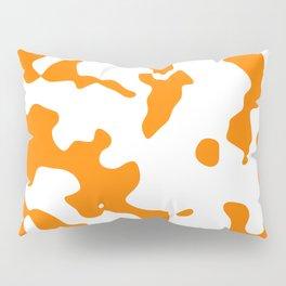 Large Spots - White and Orange Pillow Sham