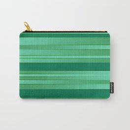 Green Ombre Stripes Carry-All Pouch