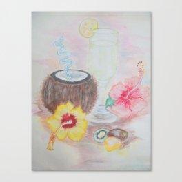 Tropical Coconut Drink Canvas Print