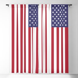 Flag of USA, 10:19 scale prints Blackout Curtain