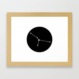 Cancer Star Sign Night Sky Circle Framed Art Print