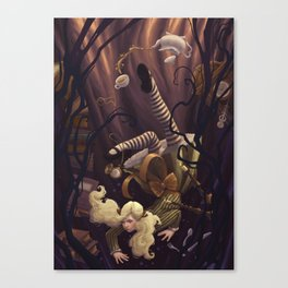 Alice Down the Rabbit Hole Canvas Print