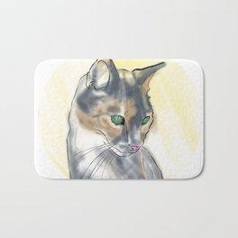 Green Eyed Cat Bath Mat