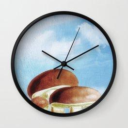 Mushroom Heaven Wall Clock