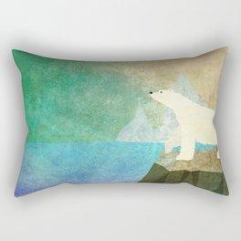 Playful Arctic Polar Bear Rectangular Pillow