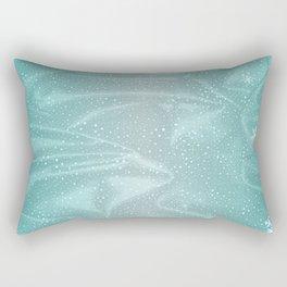 Blue Snow WInter Background Rectangular Pillow