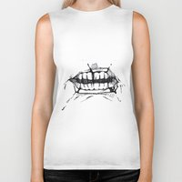 teeth Biker Tanks featuring Teeth by Tanya_Vazh