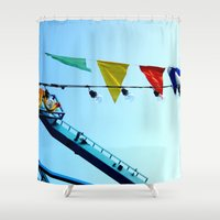 carnival Shower Curtains featuring carnival by Crimson Crazed