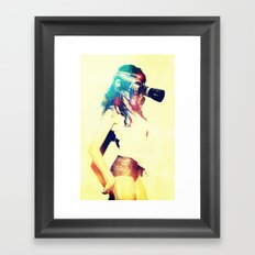 SEX ON TV - ZOOMA by ZZGLAM Framed Art Print