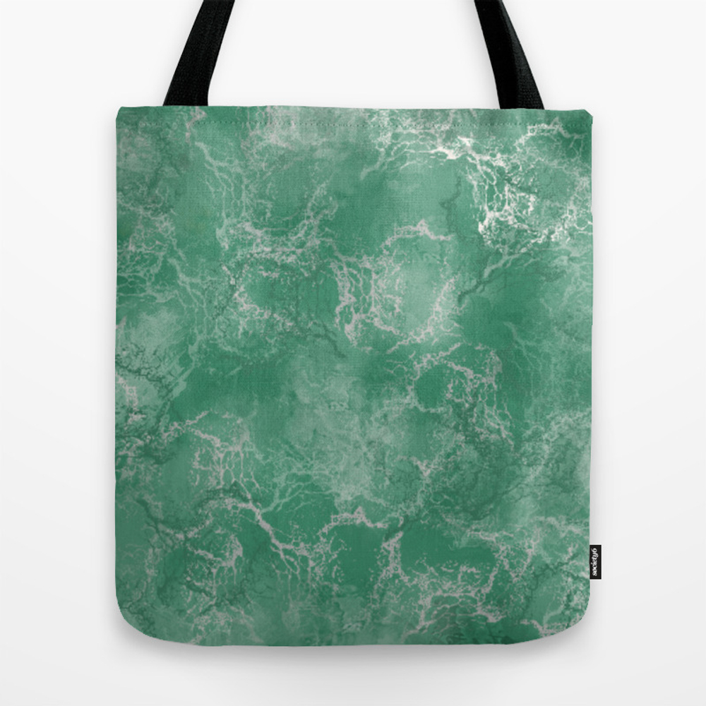 Green Marble Tote Purse by Susanart (TBG9876294) photo