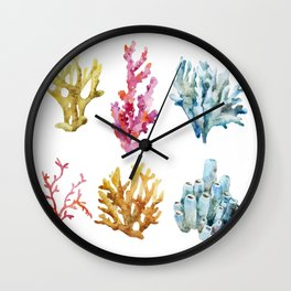 Colorful Chorals Wall Clock