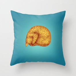 Ginger Introvert in Deep Teal Slumber Throw Pillow