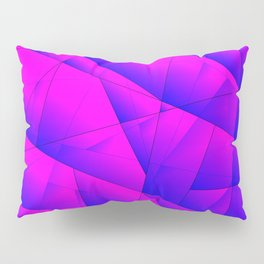Pattern of purple and lilac triangles and irregularly shaped lines. Pillow Sham