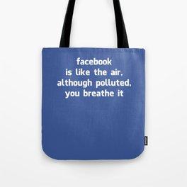 Poster Facebook Tote Bag