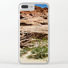 Red Rocks I Clear iPhone Case